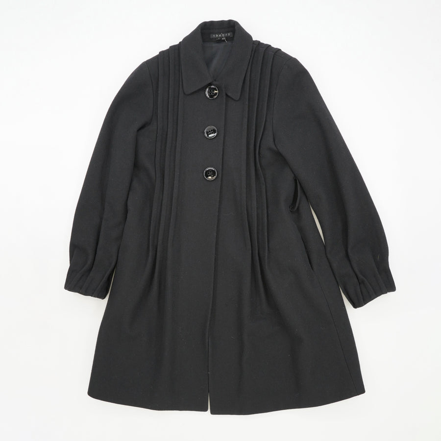 Button Down Wool Coat Size M
