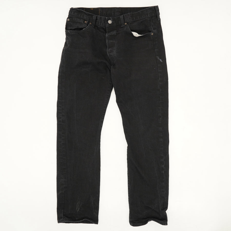 501 '93 Straight Jeans in Punk Rock Black - Size 32W 30L