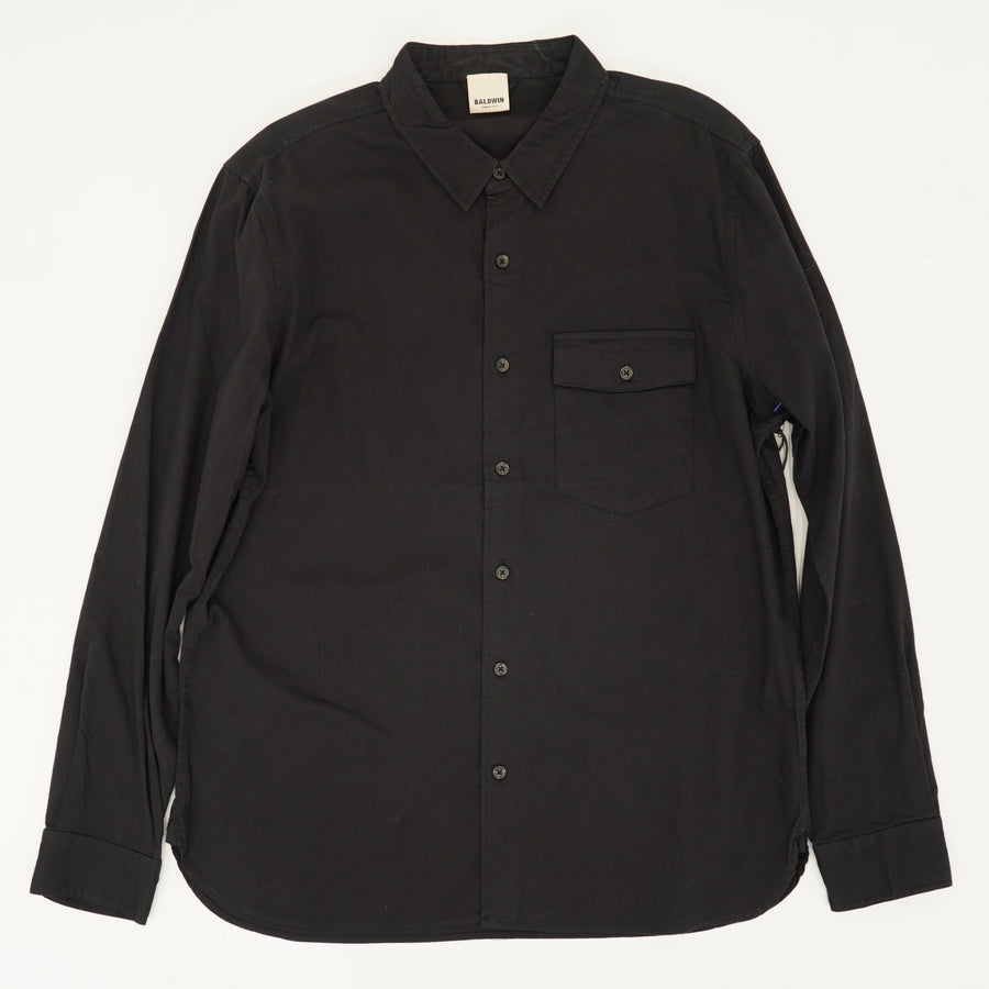 Black Long Sleeved Button Down With Pocket Size L