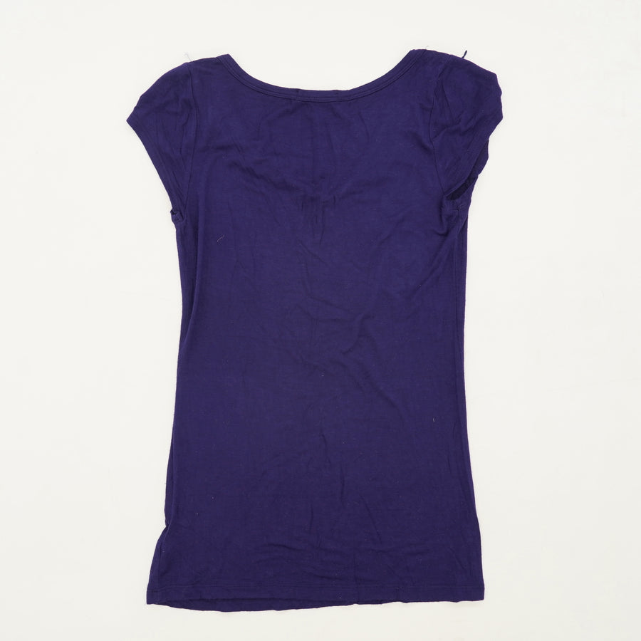 Purple V-Neck Blouse Size M