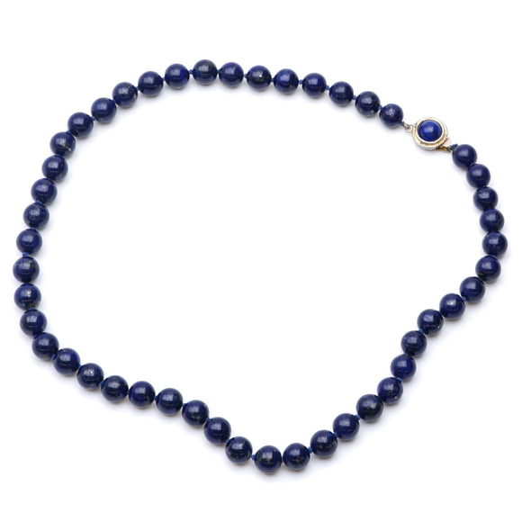 Navy Beaded Necklace