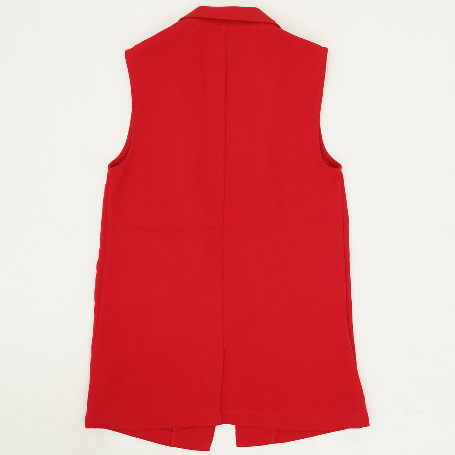 Scarlet Red Open Front Blazer Vest Size XS