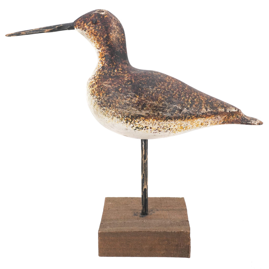 Hand Carved Shore Bird Decoy Sculpture