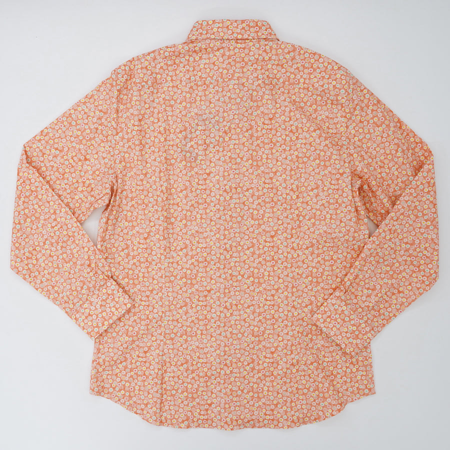 Long Sleeve Sport Shirt Coral Floral