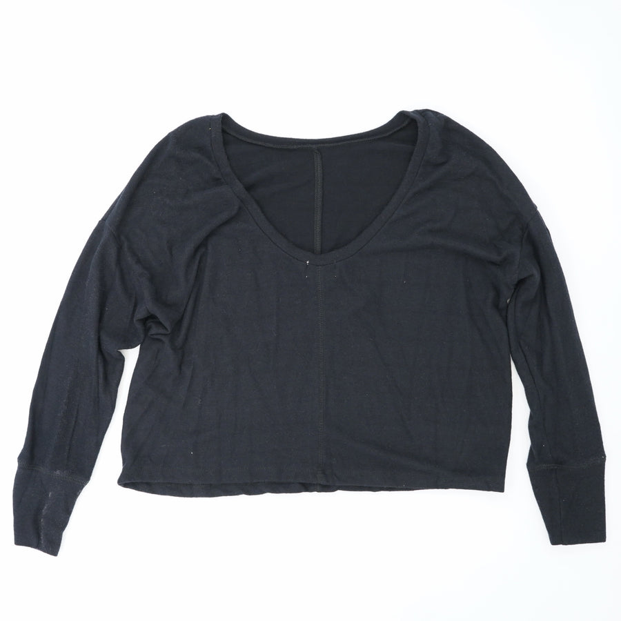 Black Solid Sweater Size L