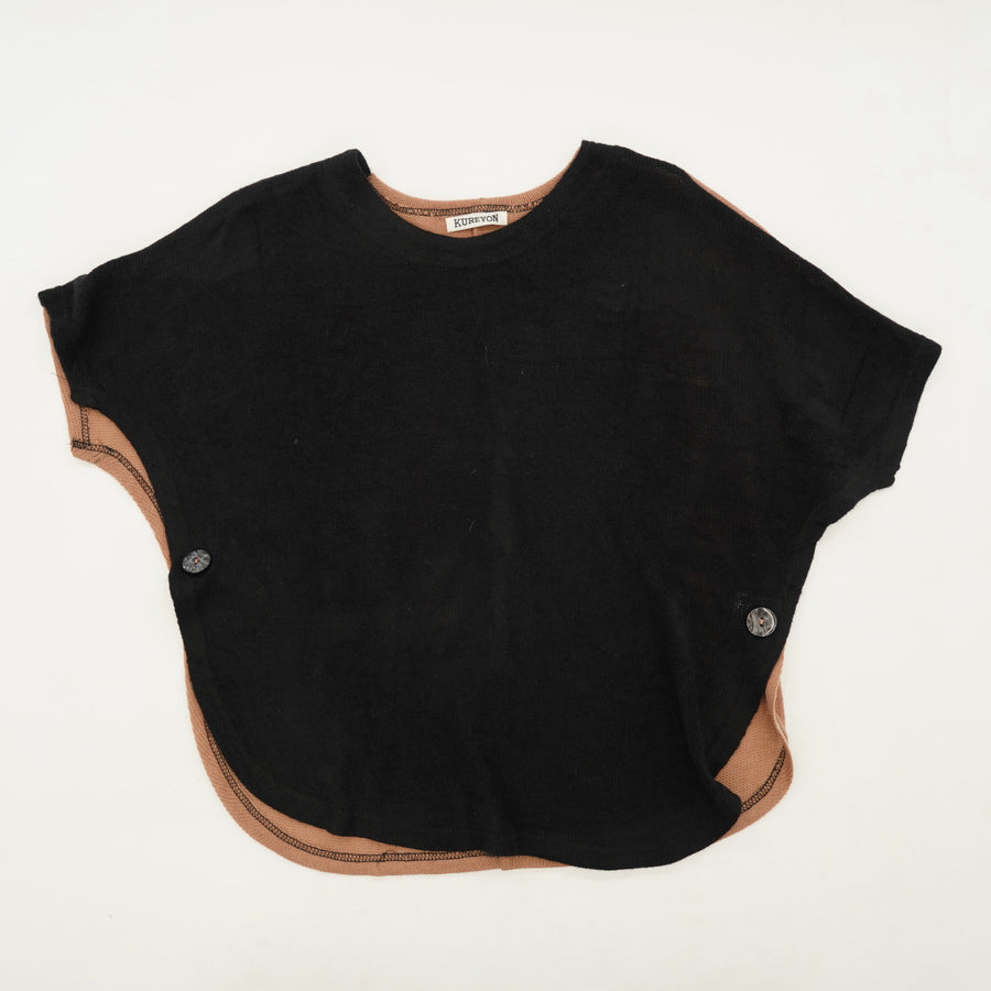 Black Short Sleeve Blouse Size M/L