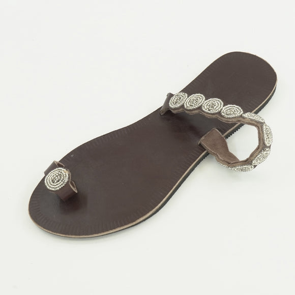 Clover Silver Sandals