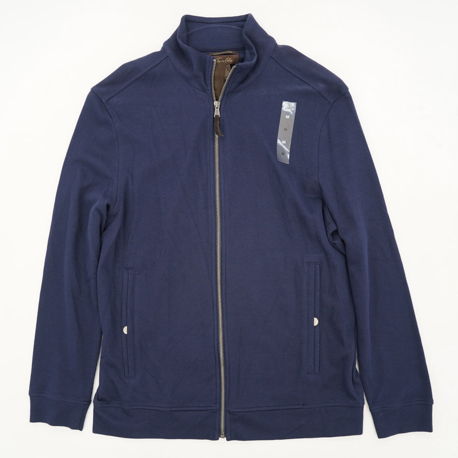 Navy Trend Hang Full Zip Knit Jacket