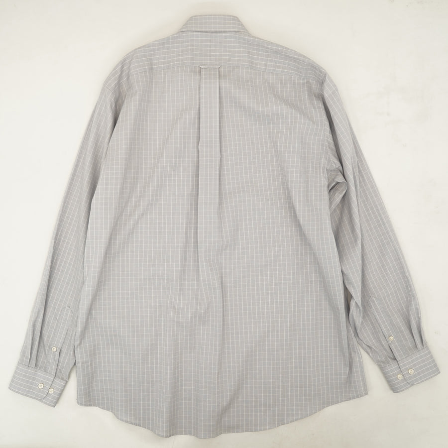 Traditional Checked Button Down Shirt Size 17 36-37