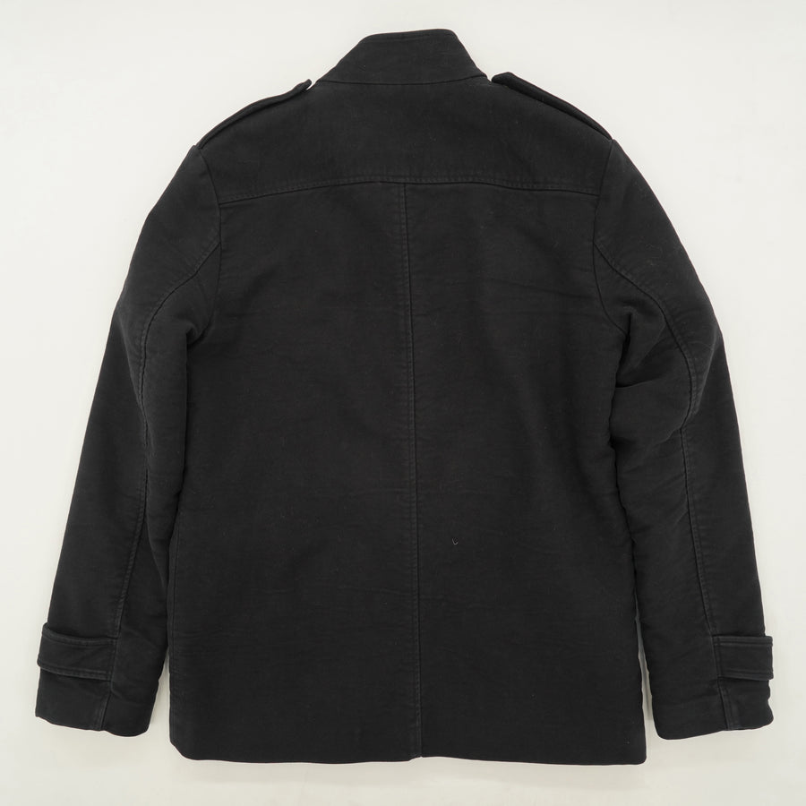 Full Zip Button Detailing Four Pocket Jacket Size S