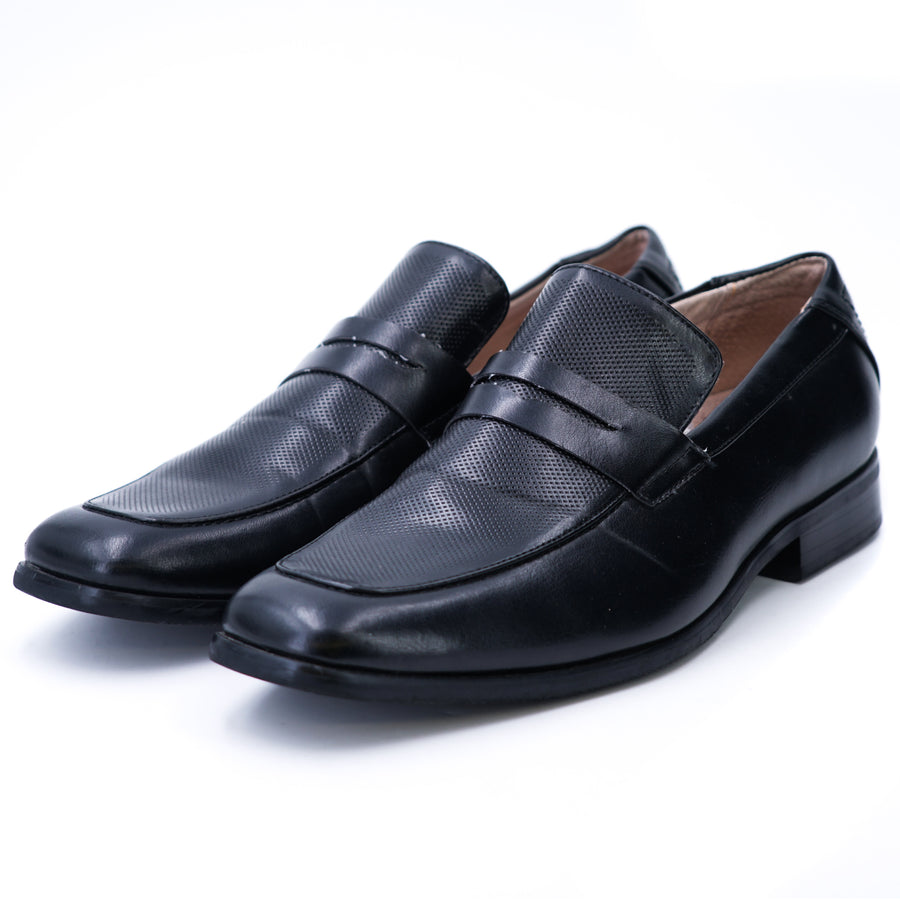 Black Leather Loafers - Size 7.5