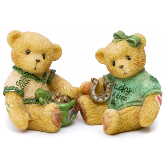 Paws For Luck Irish Boy and Girl Mini Figurines