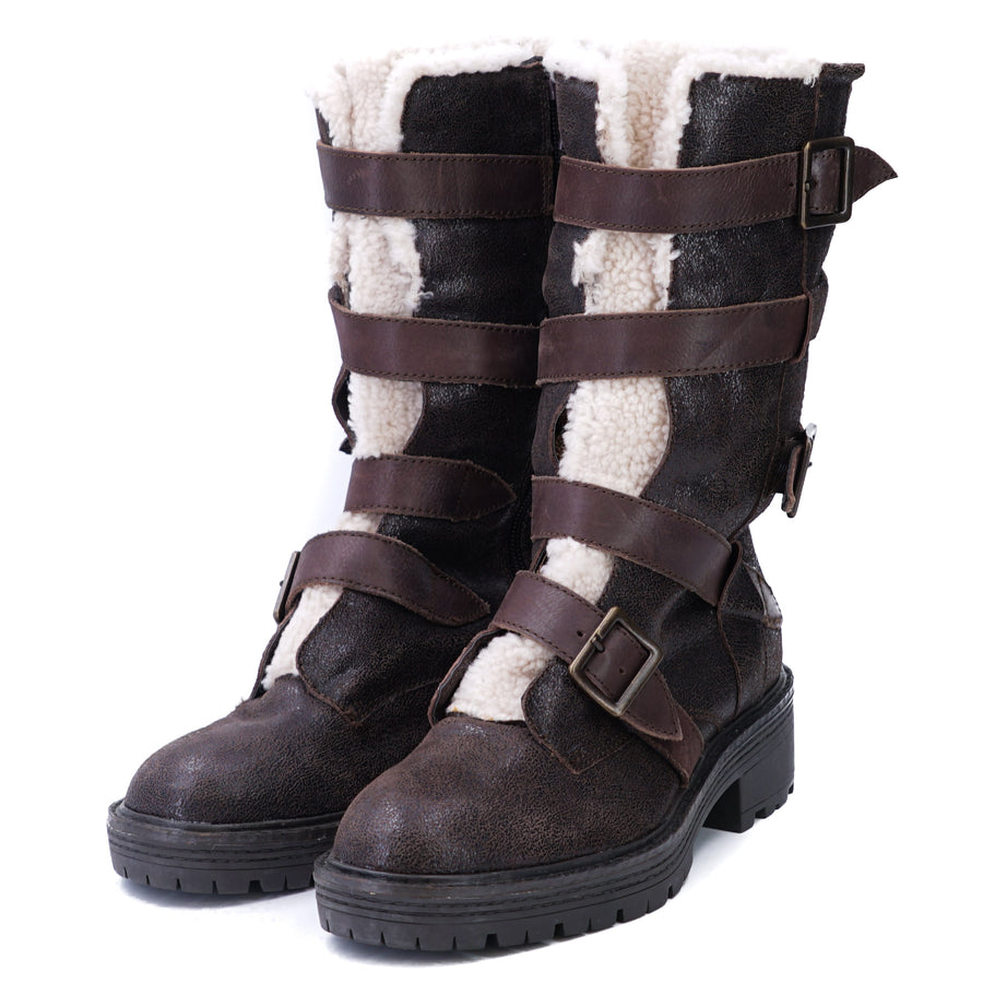 Brooklyn Moto Buckle Boots Size 6.5