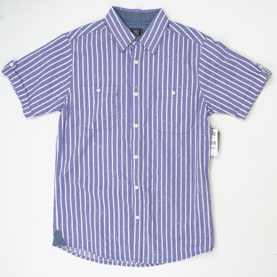 Striped Short Sleeve Button Down