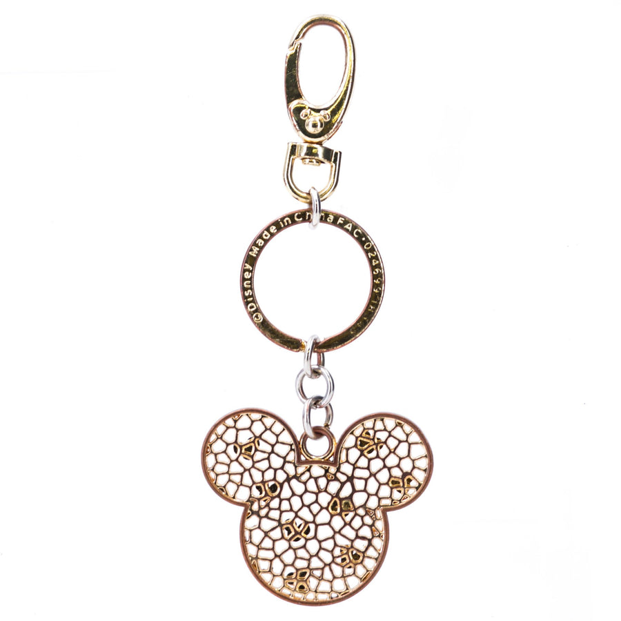Mickey Mouse Icon With Clear Stones Keychains
