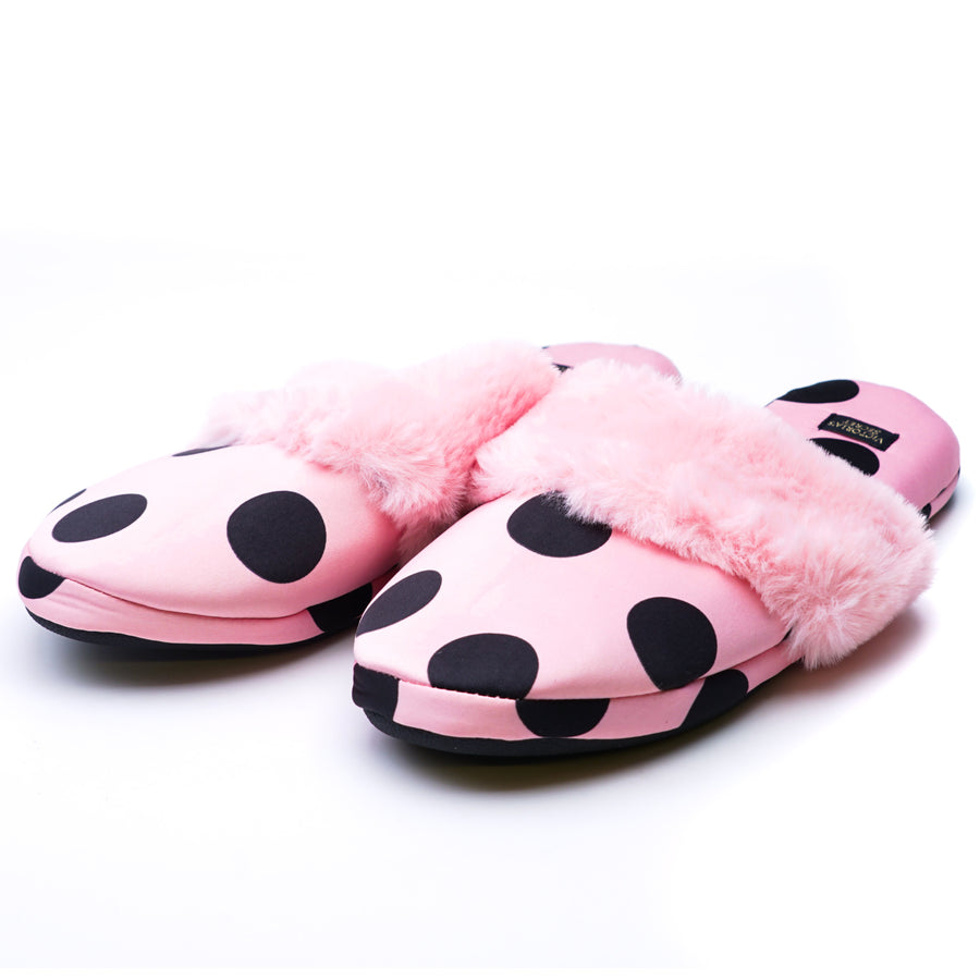 Signature Satin Slippers Pink Large (9-10)