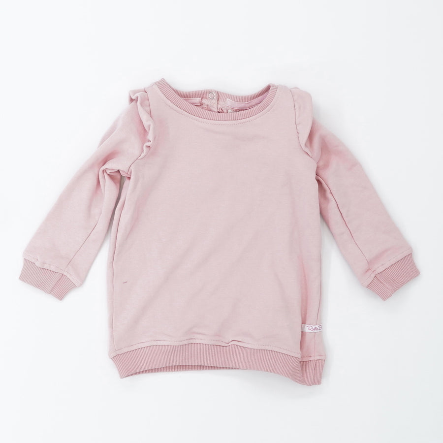 Pink Ruffle Shoulder Sweater Size 18/24M