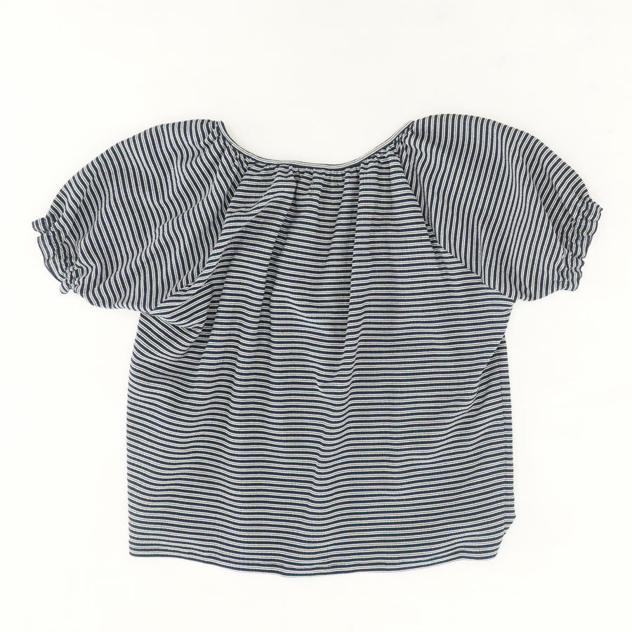 Texture & Thread Striped Peasant Top Size M