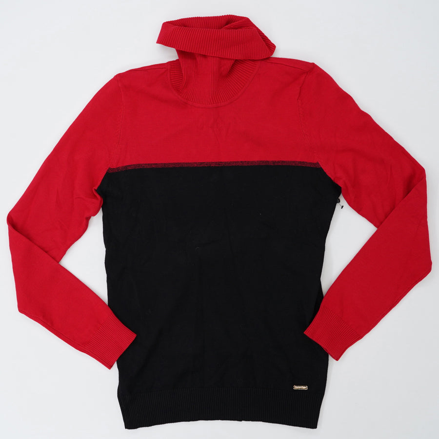 Red/Black Turtleneck Sweater Size S