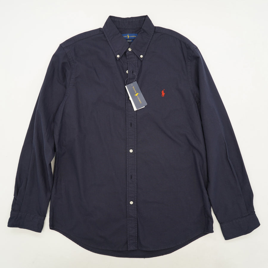 Classic Fit Oxford Long-Sleeve Button-Down Shirt Size L