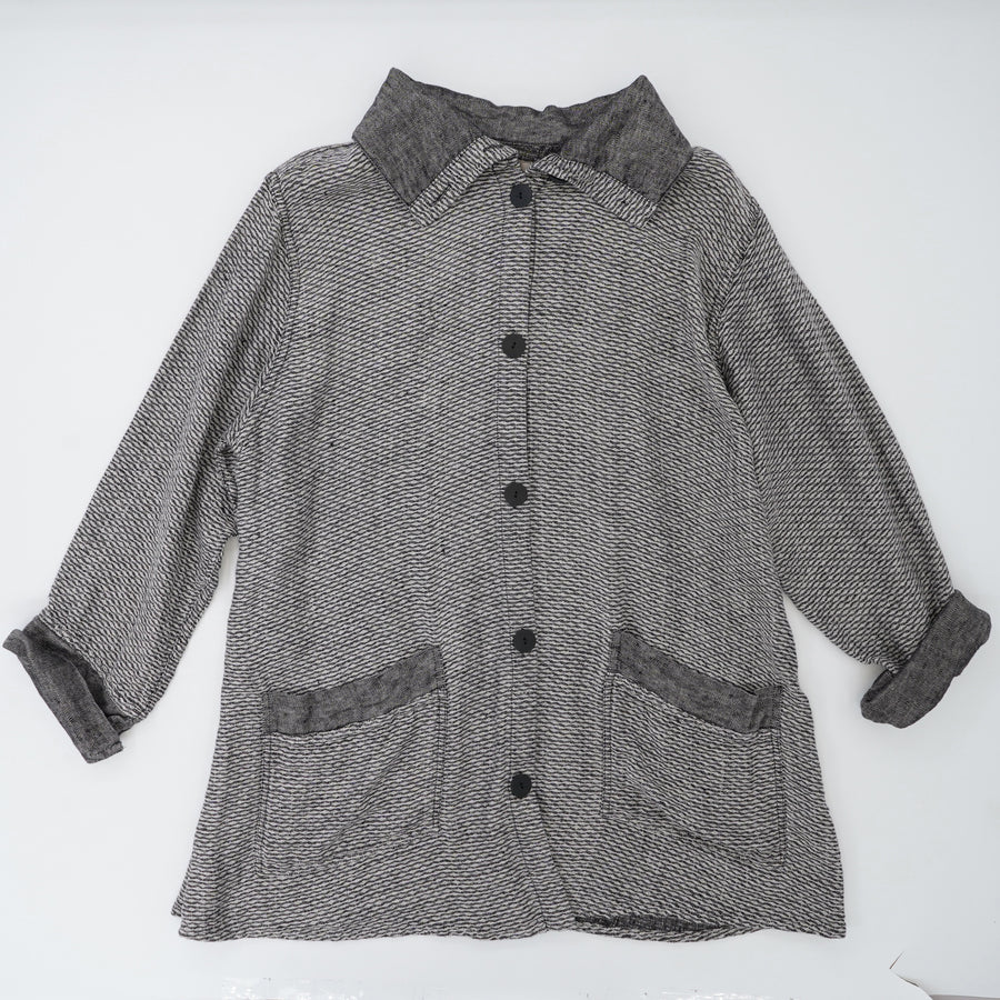 Button-Up Collared Jacket Size L