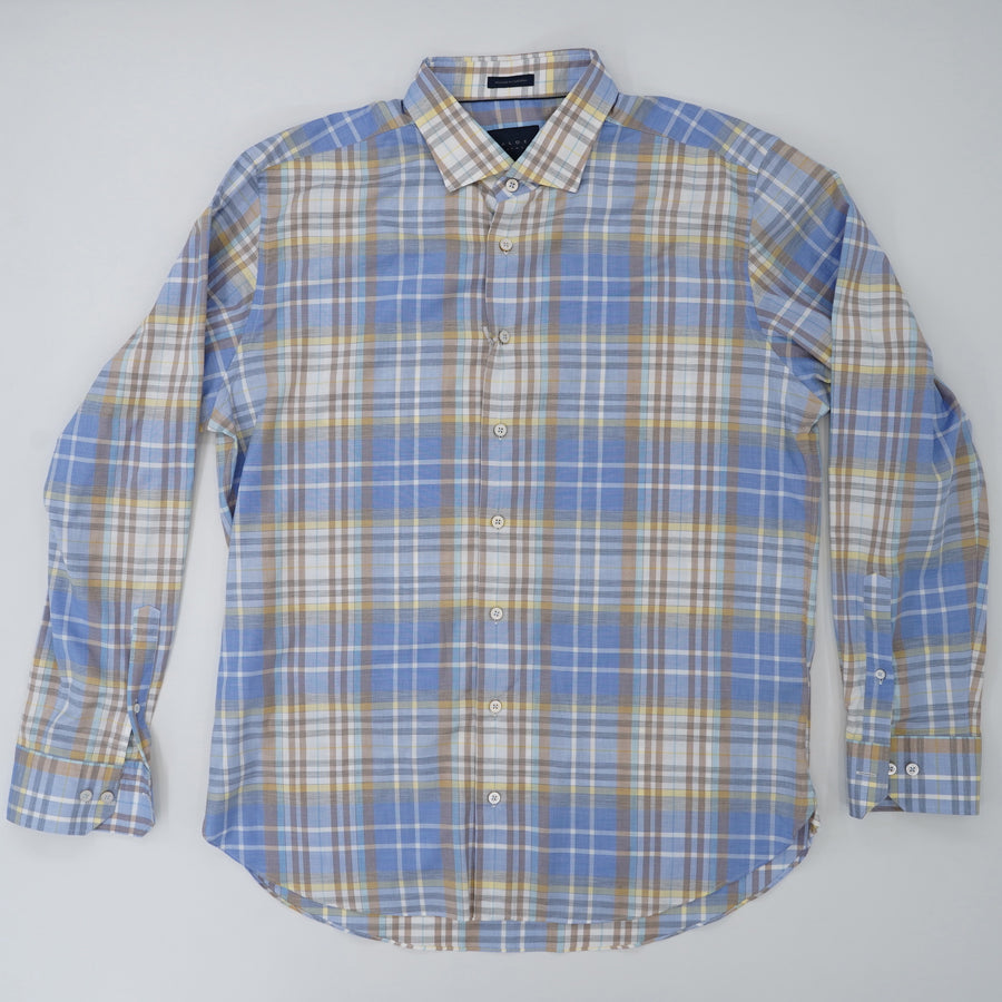 Newport Sport Shirt Plaid Size XL