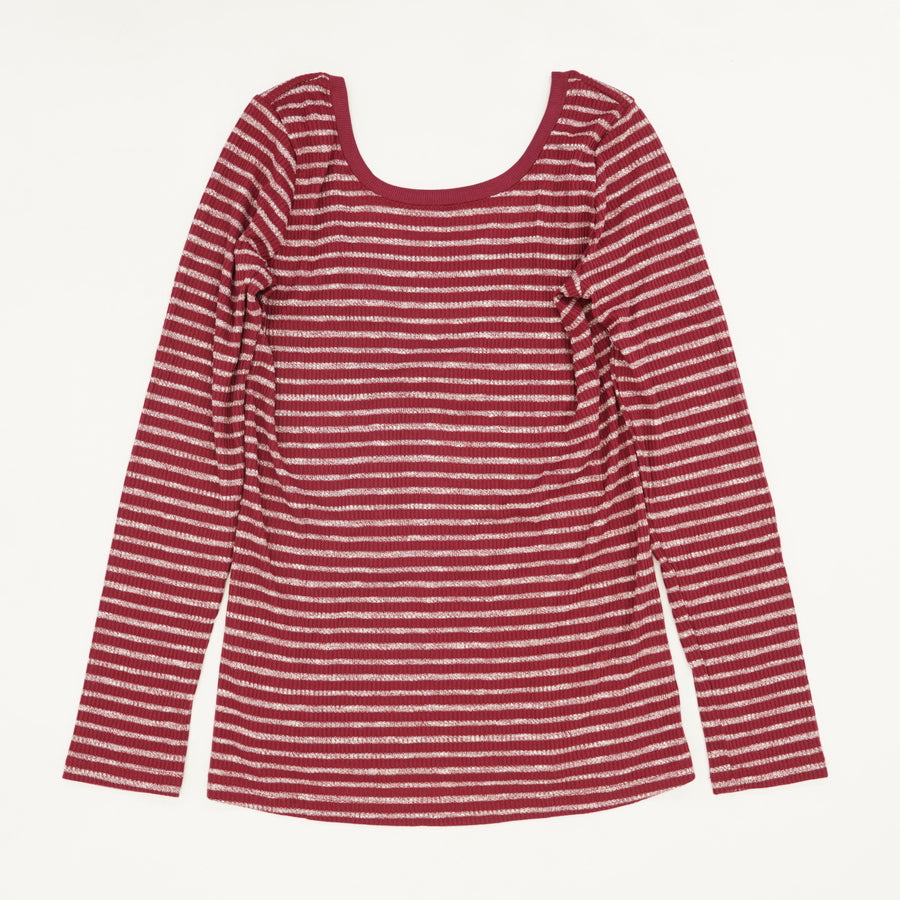Alline Stripe Long Sleeve Size L