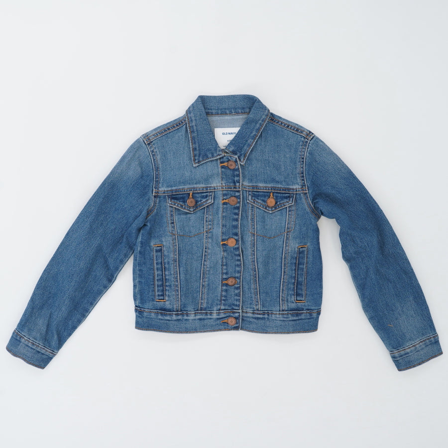 Medium Wash Denim Jacket - Size 8