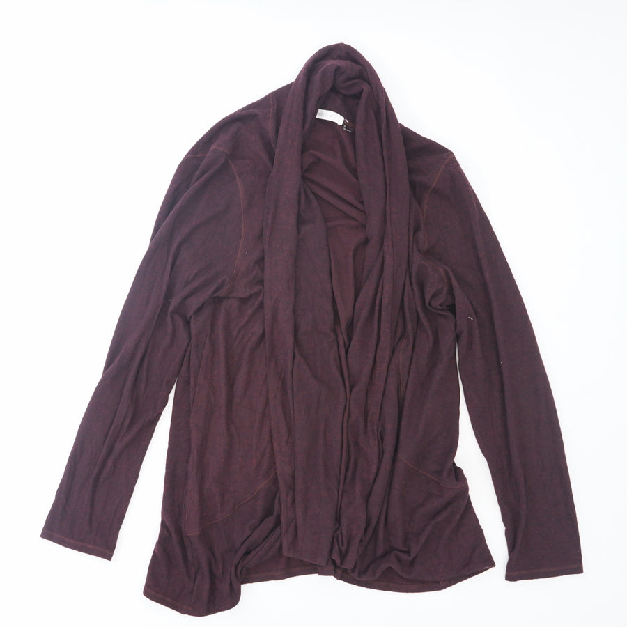Burgundy Open Front Cardigan Size XL