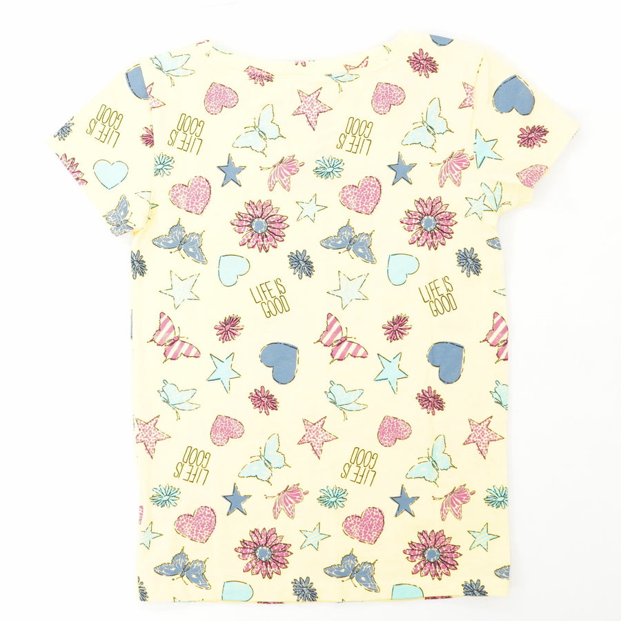 Girls' Life Is Good Printed Crusher Tee Size S