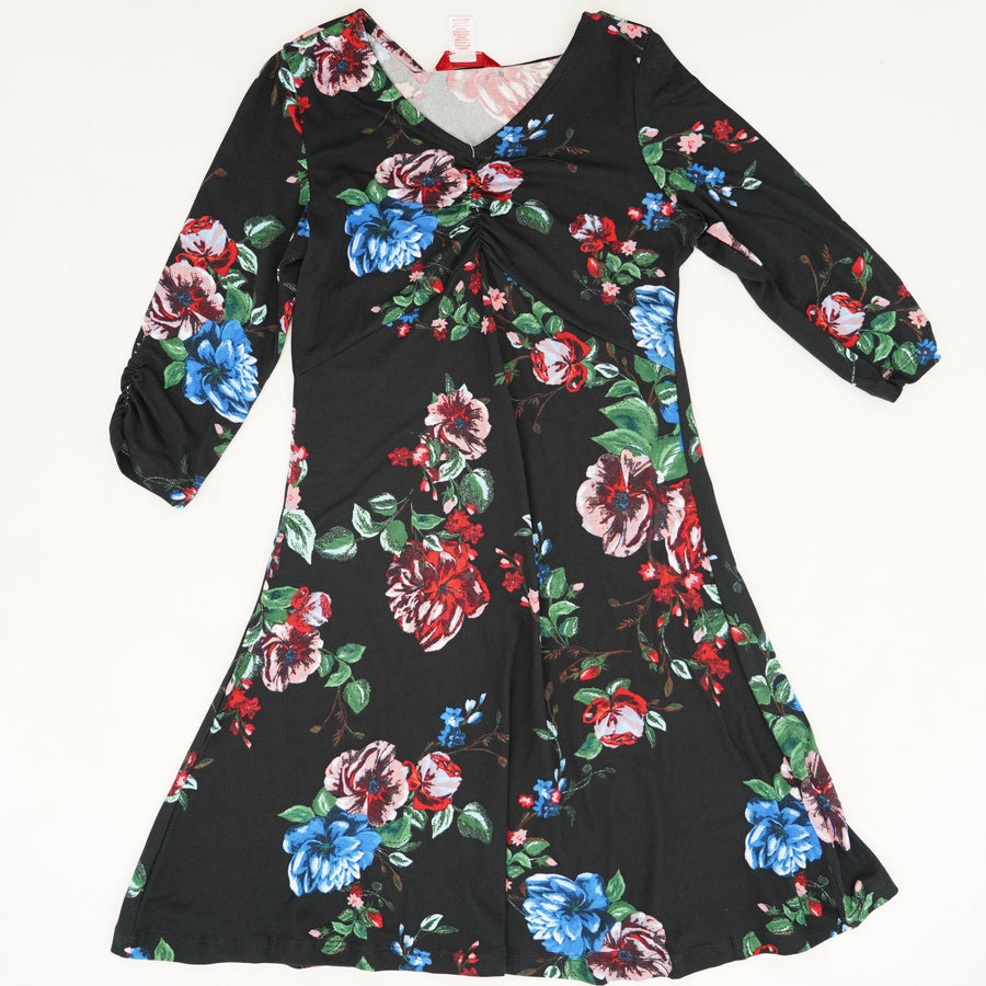 Floral 3/4 Sleeve Dress Size 10/12