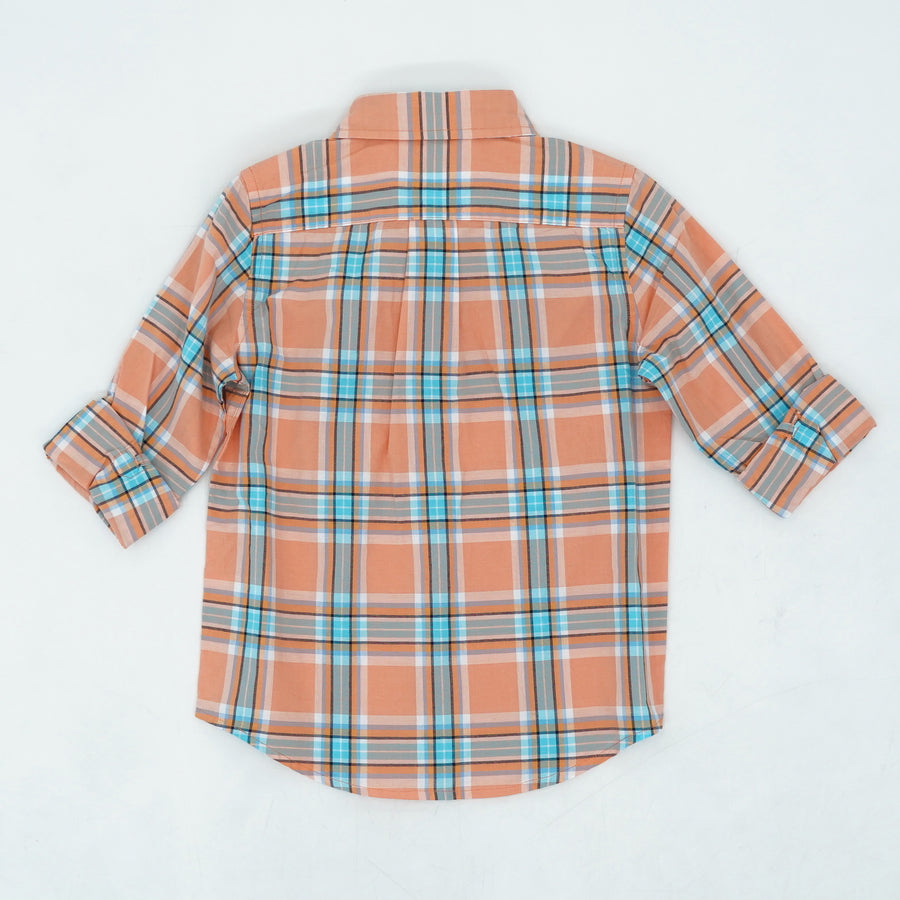 Peach 3/4 Sleeve Button Up Shirt Size 4T