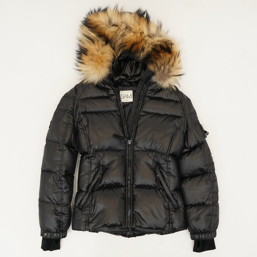 Blake Fur Trimmed Down Jacket Size 12