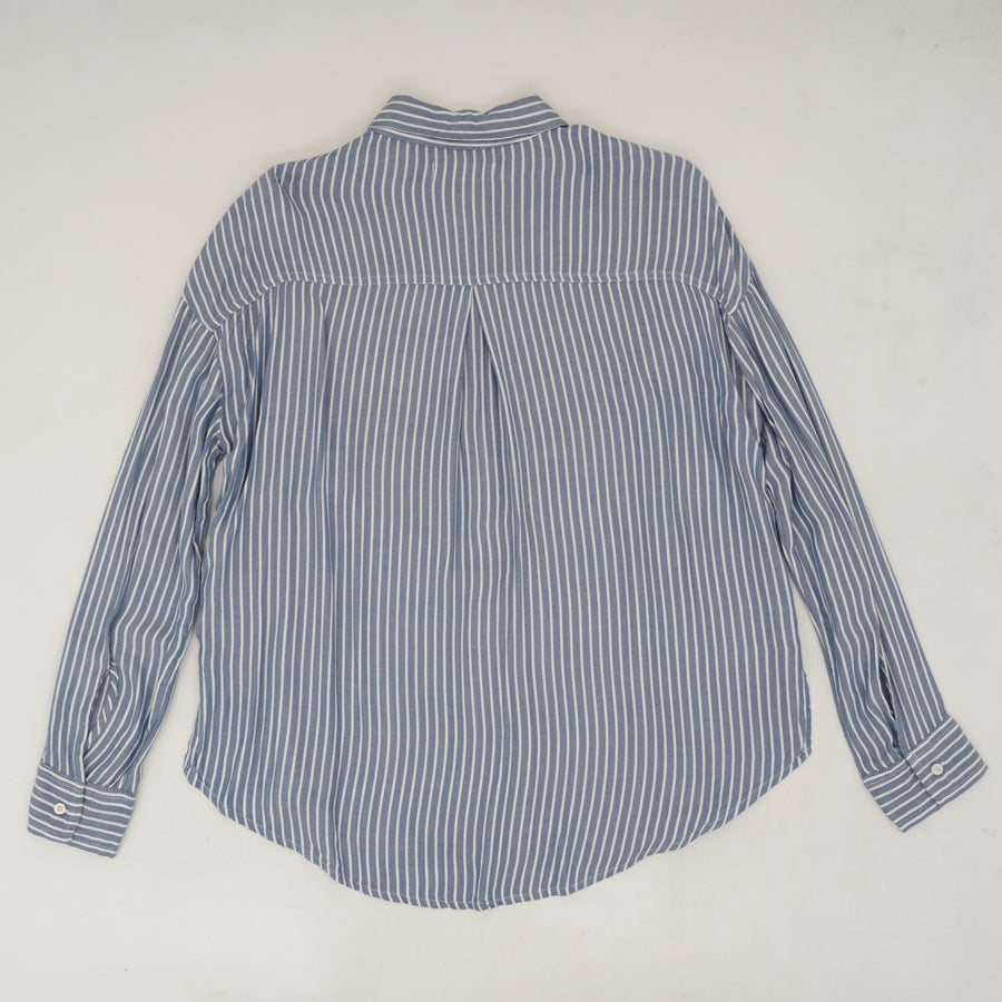 Embroidered Striped Button Down Size XS