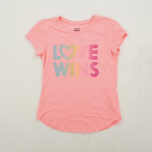 """Love Wins"" Graphic Tee Size 7"