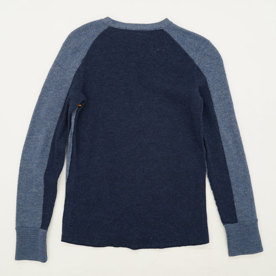 Two Toned Merino Wool Blue Sweater Size XS