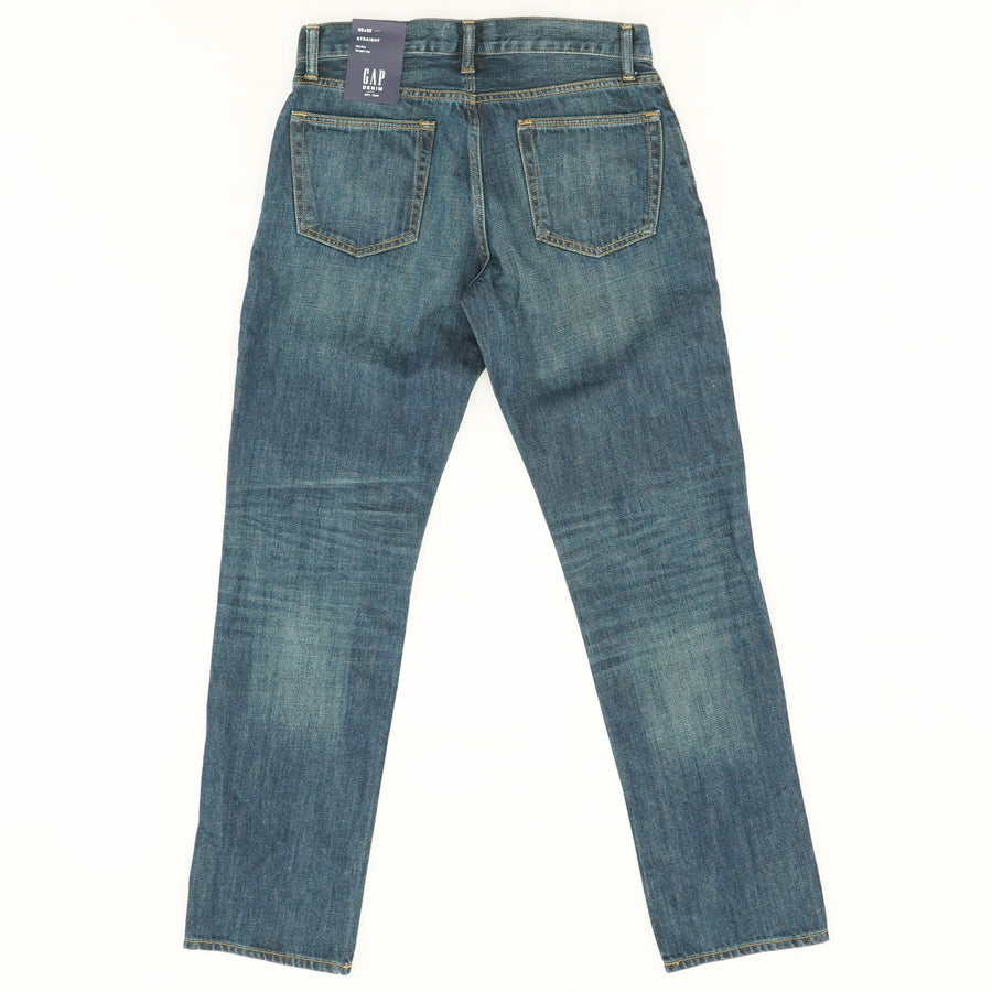 Mid-Rise Straight Leg Jeans - Size 30Wx32L