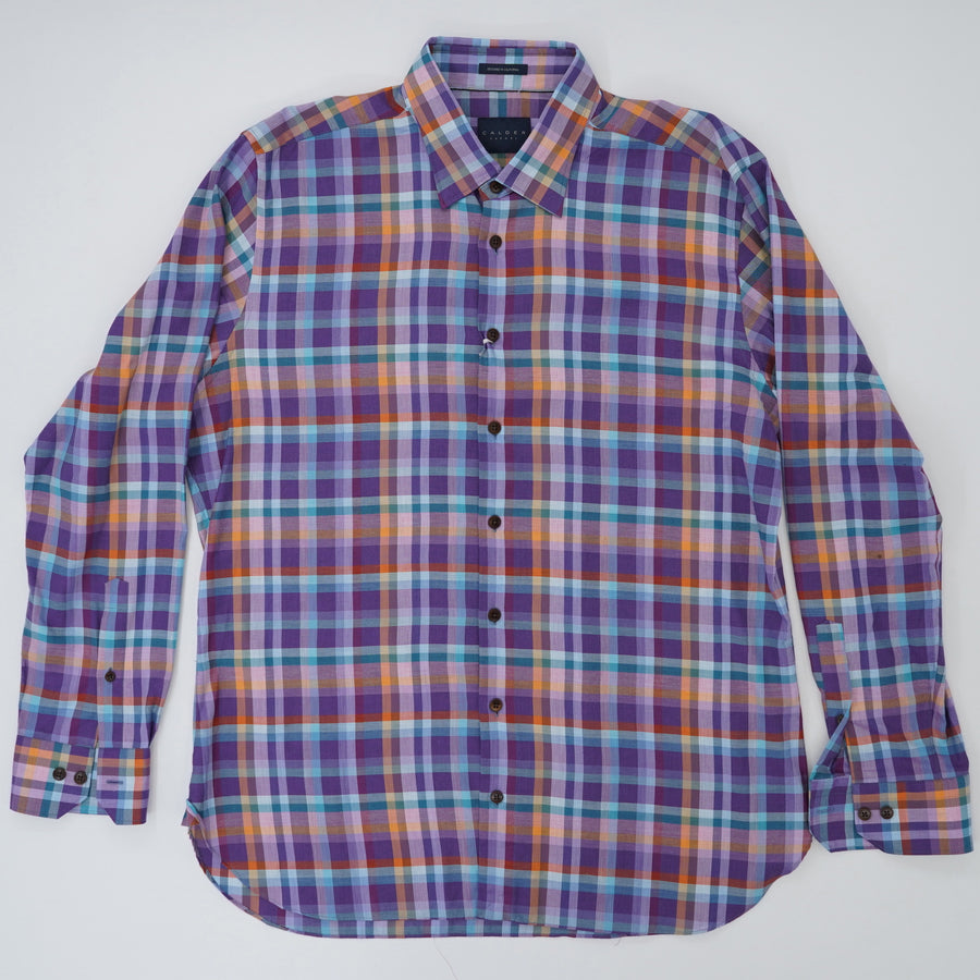 "Ulysses Underbutton Shirt with Omega Cuff ""Newport Tailored Fit"" Size XL"