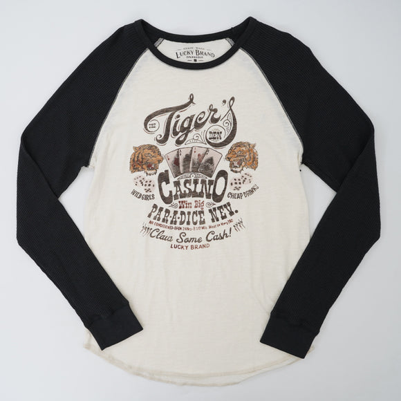 Long Sleeve Logo Baseball Tee Size Small