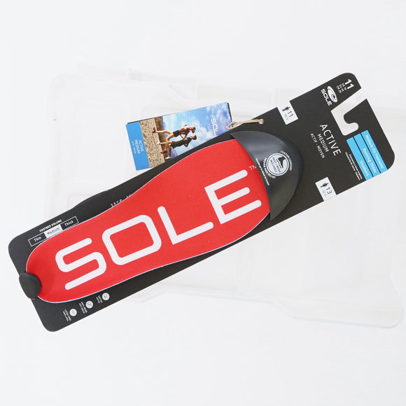 Sole Active Medium Insoles Size 11