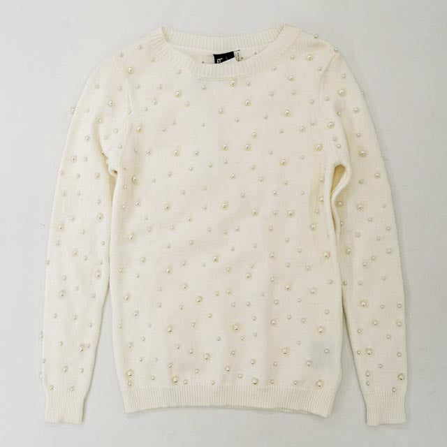 Bradley Allover Pearl Sweater Size XS