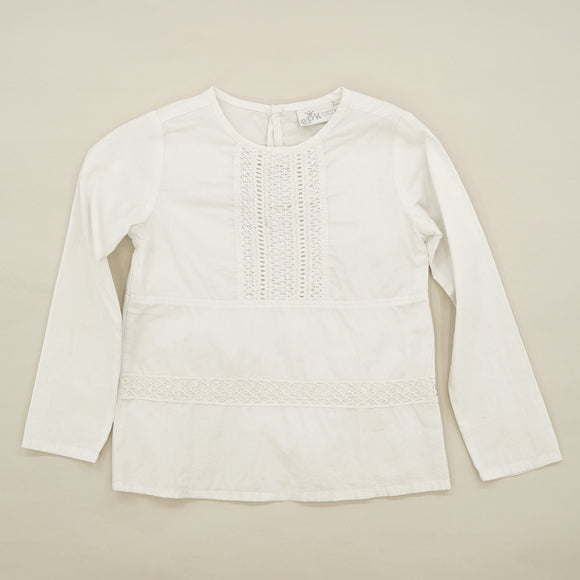 White Braided Detail Blouse Size 5