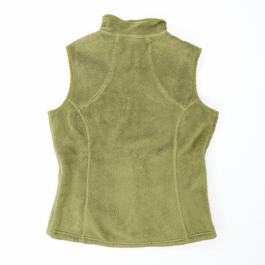 Green Fleece Zip Up Vest With Pockets Size M