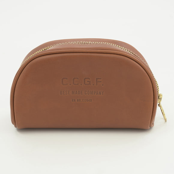 C.C.G.F Leather Toiletry Bag