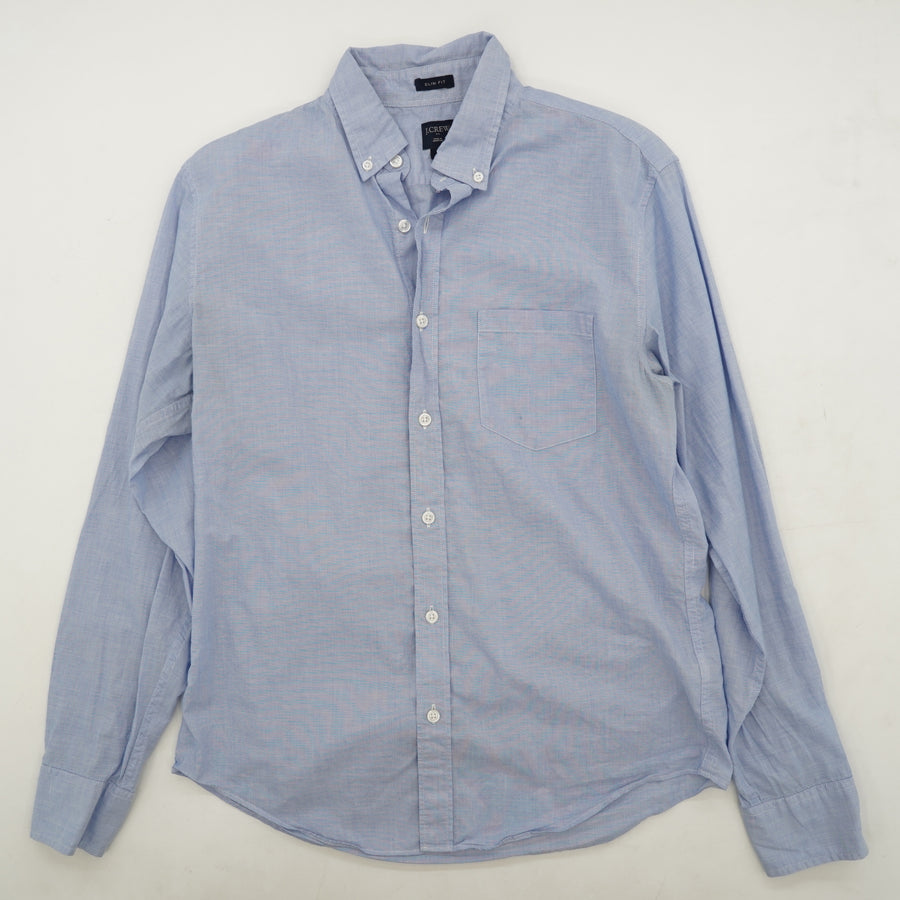 Blue Slim Fit Dress Shirt Size M Neck 15""