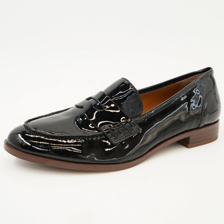 Black High-Shine Loafers Size 7.5
