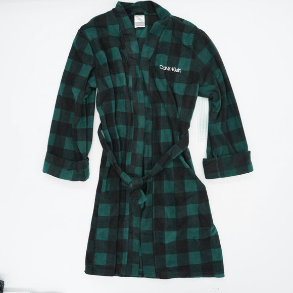 Plaid Printed Cozy Robe Size XL