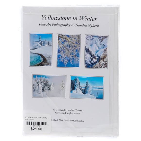 Yellowstone In Winter Cards 5 Piece