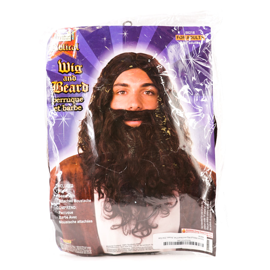 Biblical Beard and Wig Set