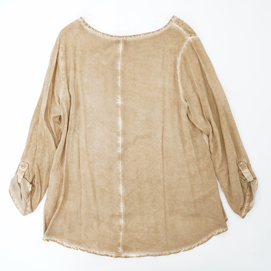 Embellished High Low Blouse Size L